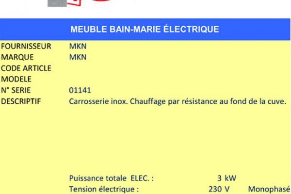 AAE Alsace Alimentaire Équipement - Bain-marie électrique MKN
