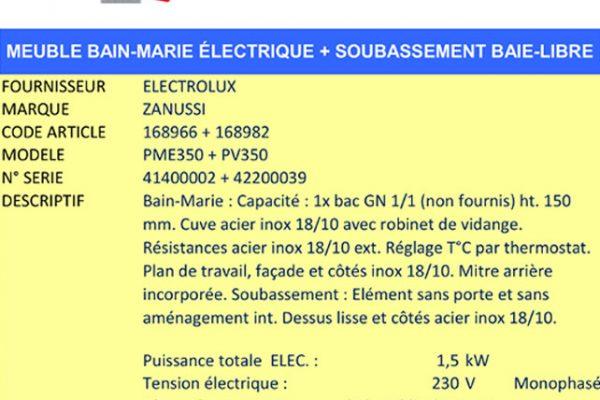 Bain-marie ZANUSSI - AAE Alsace Alimentaire Équipement