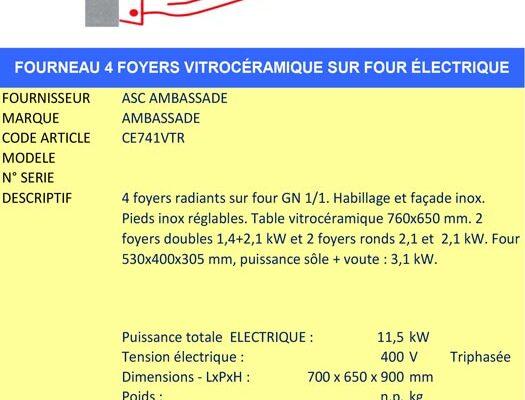 AAE Alsace Alimentaire Équipement - Fourneau plaques vitro