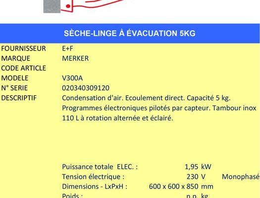 AAE Alsace Alimentaire Équipement - Sèche-linge à condensation MERKER